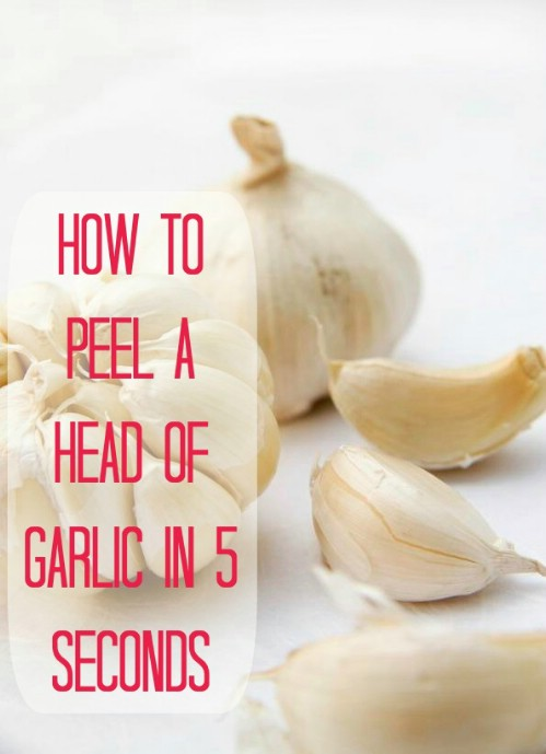 Peel a head of garlic in seconds.